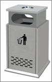 roadside advertising dustbin